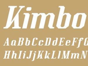Kimbo Black Italic