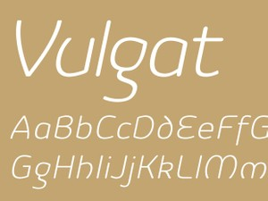 Vulgat Light Italic