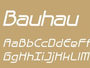 Bauhau Bold Italic