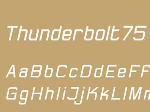 Thunderbolt75 Regular Italic