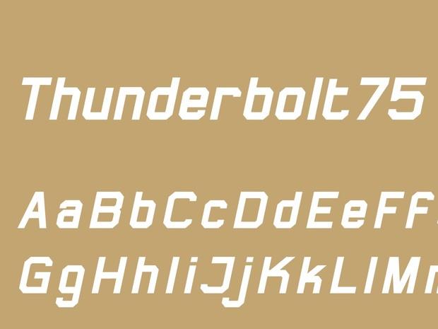 Thunderbolt75 Bold Italic