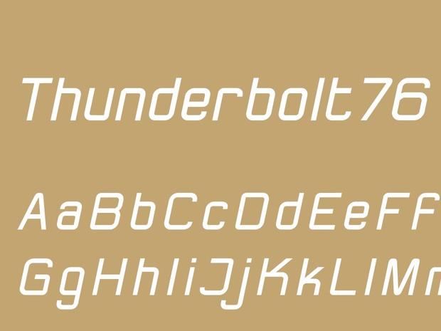 Thunderbolt76 Regular Italic