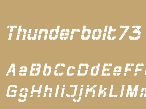 Thunderbolt73 Bold Italic
