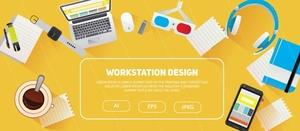 Flat Workstation Design