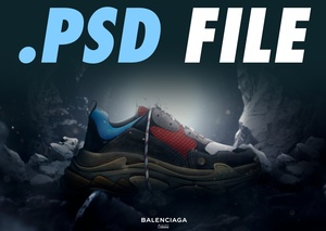 BALENCIAGA TRIPLE S ADVERT PHOTOSHOP FILE - Aleo.