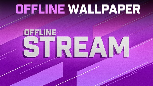 STREAM OFFLINE WALLPAPER TEMPLATE (TWITCH) - Aleo.