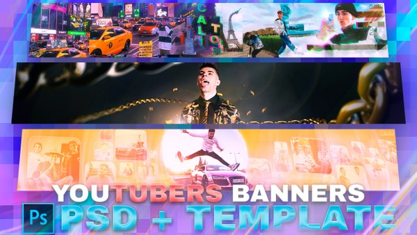 YOUTUBERS PSD PACK + TEMPLATE by Aleo.