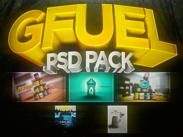 GFUEL ADVERTS .PSDs PACK (5 .PSDs) - Aleo