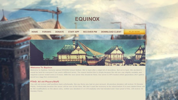 Equinox personal template