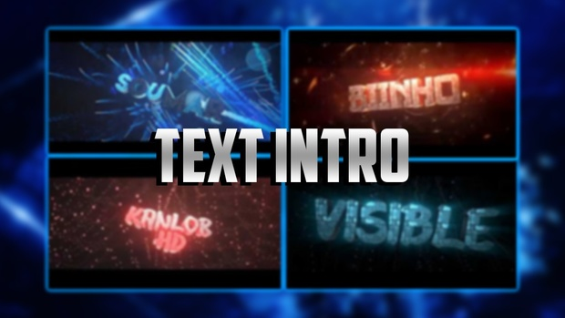 High Quality 3D text intro 1080P60Fps