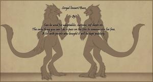 Sergal Base - Male SFW