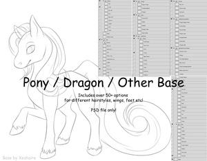 Chibi Pony / Dragon / Other Base