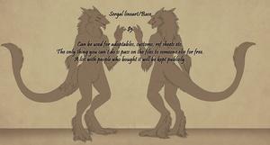 Sergal Base - Female SFW
