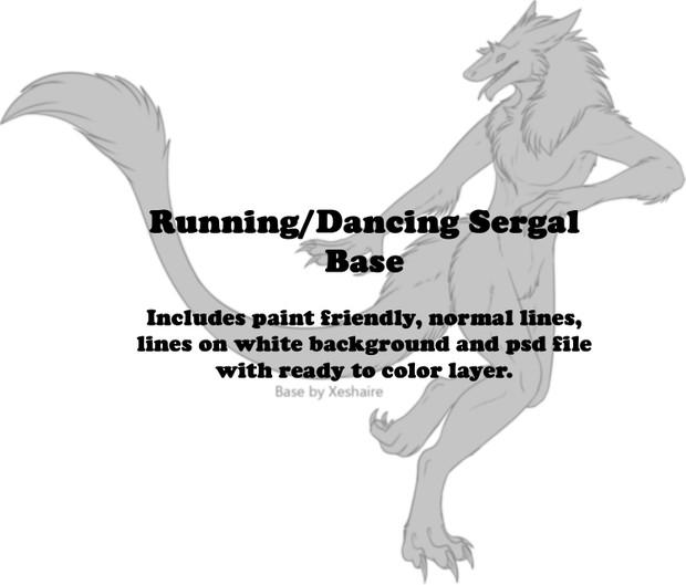 Running Sergal Base - Male