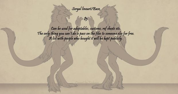 Sergal Base - Male NSFW