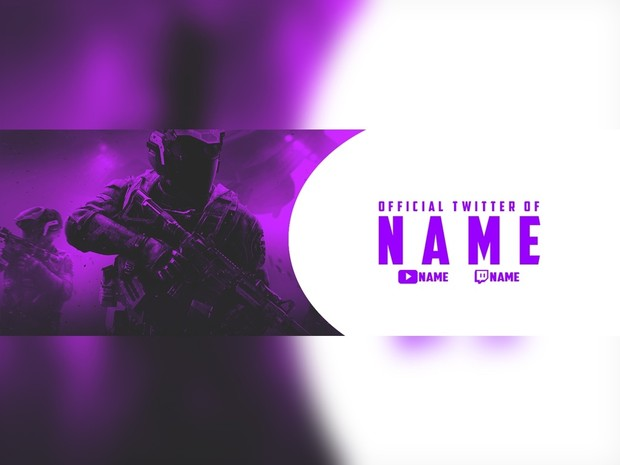 purple infinite warfare twitter banner template