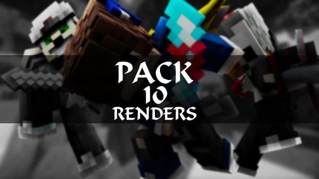 PACK DE 10 RENDERS