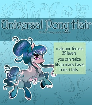 [P2U] Universal Pony Hair Pack - Addons to bases!