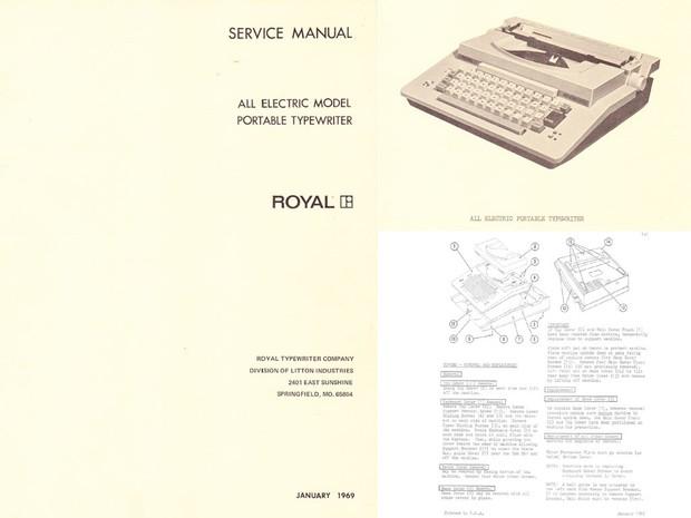 Royal All-Electric Typewriter Service Repair Adjustment Manual
