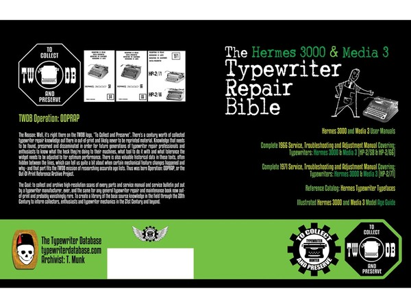 The Hermes 3000 and Media 3 Typewriter Repair Bible
