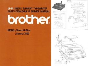 Brother JP-14 Electric Portable Typewriter Repair Adjustment Service Manual