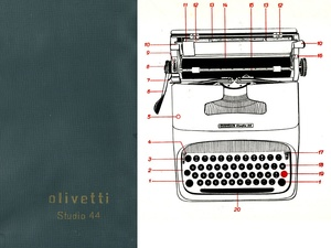 Olivetti Studio 44 Typewriter Service Repair Adjustment Manual