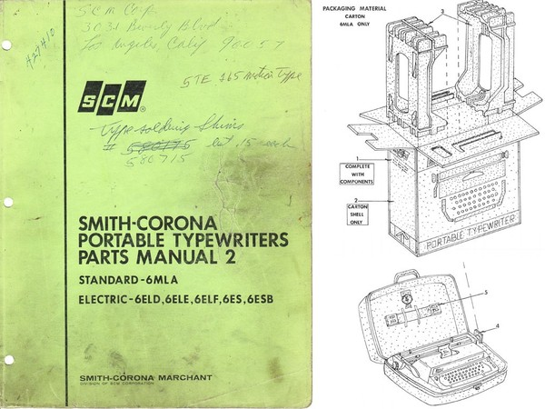 1969 Smith-Corona Portable Parts 2