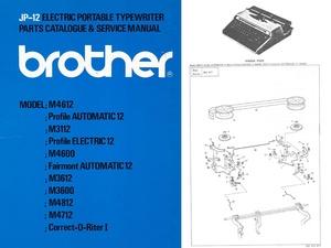 Brother JP-12 Electric Portable Typewriter Repair Adjustment Service Manual