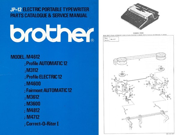 Brother JP-12 Electric Portable Typewriter Repair Adjustment Service Manual