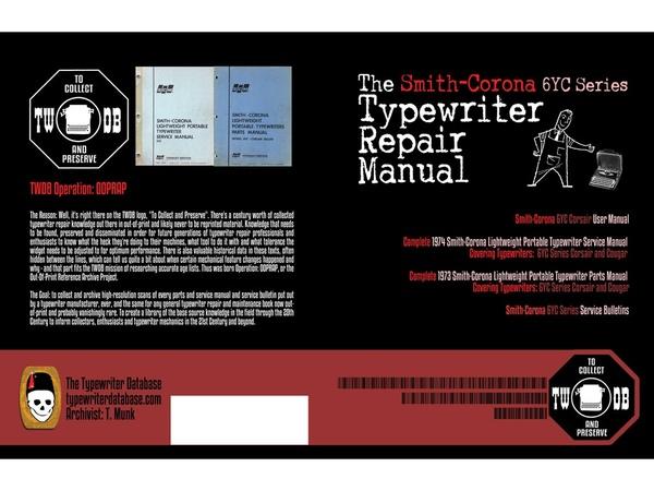 The Smith-Corona 6YC Series Typewriter Repair Manual