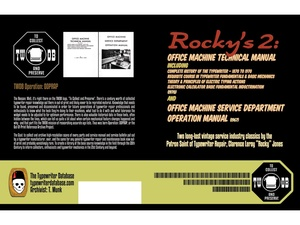Rocky's 2: Office Machine Technical Manual and Office Machine Service Department Operation Manual