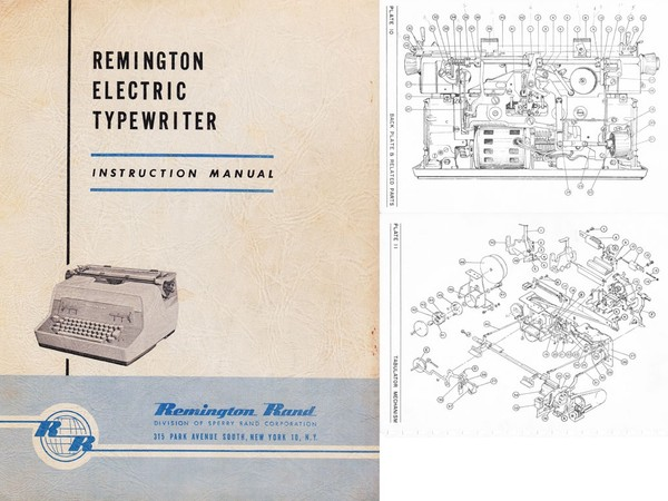 1960 Remington Electric Standard Typewriter Service Manual
