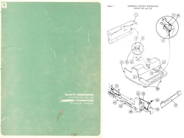Underwood Olivetti Model 700, 702 Electric Typewriter Service Manual