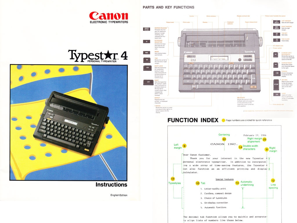 canon typestar 4 typewriter user s manual rh sellfy com canon typewriter user manual Canon AP110 Typewriter