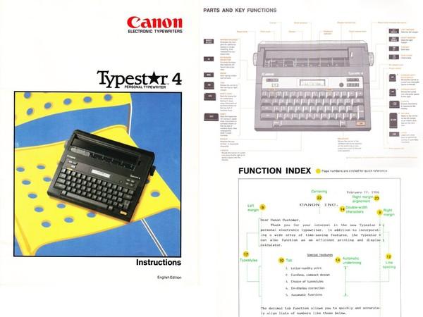 Canon Typestar 4 Typewriter User's Manual