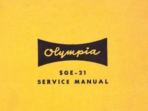 Olympia SGE-21 Electric Typewriter Service Repair Adjustment Manual