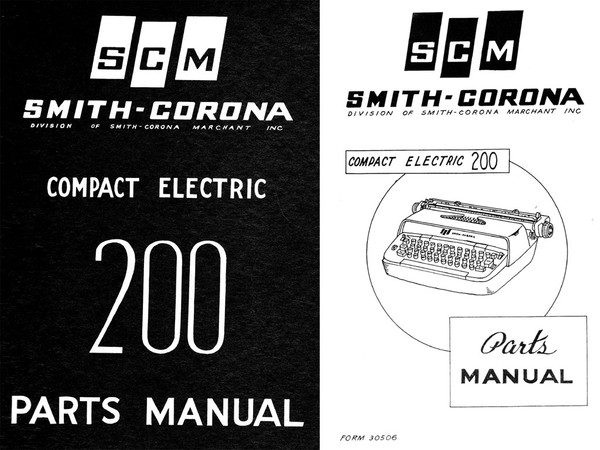 1963 Smith-Corona Compact Electric 200 Parts