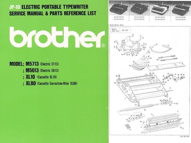 Brother JP-10 Electric Portable Typewriter Repair Adjustment Service Manual