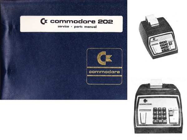 Service and Parts Manual for Commodore 202 Calculator