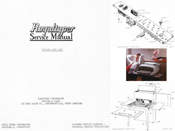 1962 Robotyper Royaltyper Electric Desktop Typewriter Controller Service Adjustment Manual