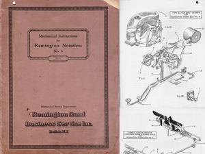 1929 Remington Noiseless 6 Typewriter Service Manual