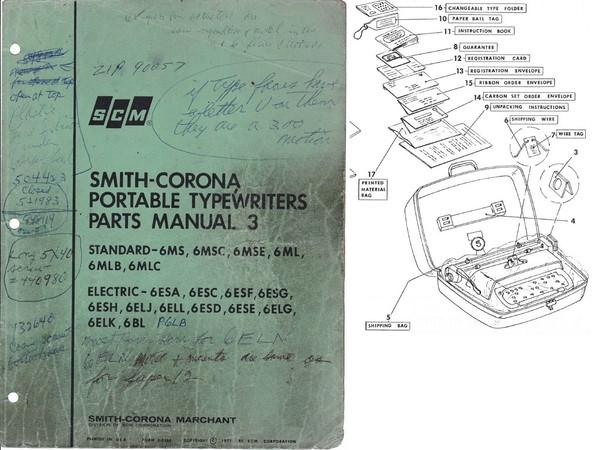 1971 Smith-Corona Portable Parts 3