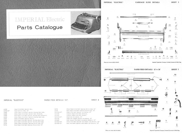Imperial Electric Standard Typewriter Parts Catalog 1964