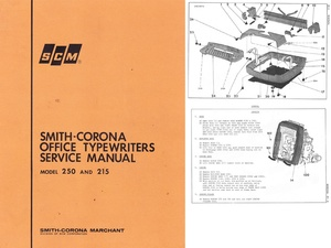 Smith-Corona Office 250 and 215 Electric Typewriter Service Repair Adjustment Manual