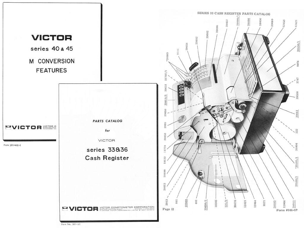 Victor-Hugin Models 40-41-42-45-33-36-2315 Cash Regist