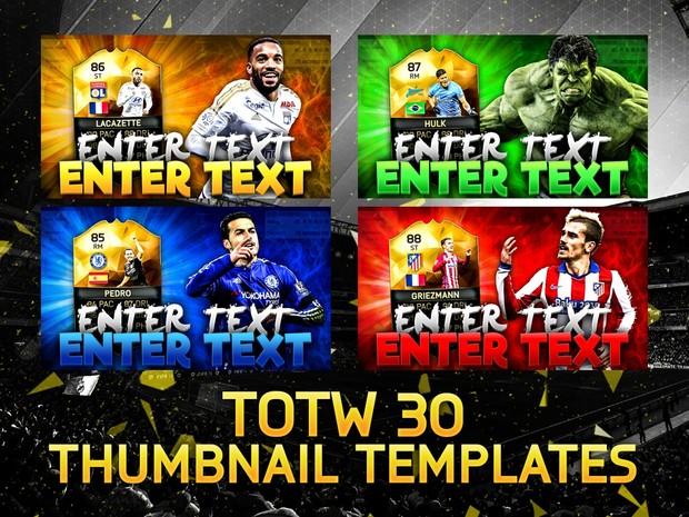 FIFA 16 TOTW 30 Thumbnail Template Pack