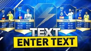 FIFA 17 MOST CONSISTENT TOTS THUMBNAIL TEMPLATE