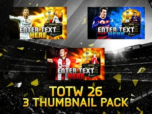 FIFA 16 TOTW 26 3 Thumbnail Template Pack