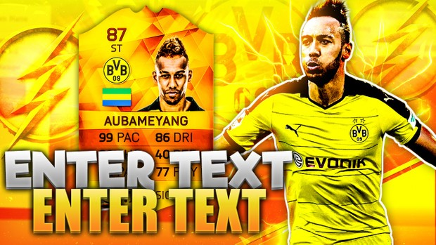 FIFA 16 MOTM AUBAMEYANG THUMBNAIL TEMPLATE (NO PHOTOSHOP NEEDED)