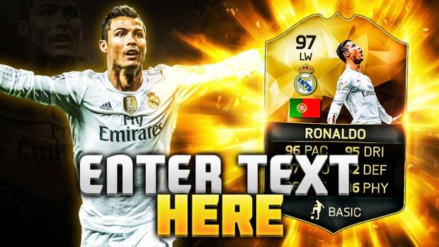 FIFA 16 97 Ronaldo Thumbnail Template